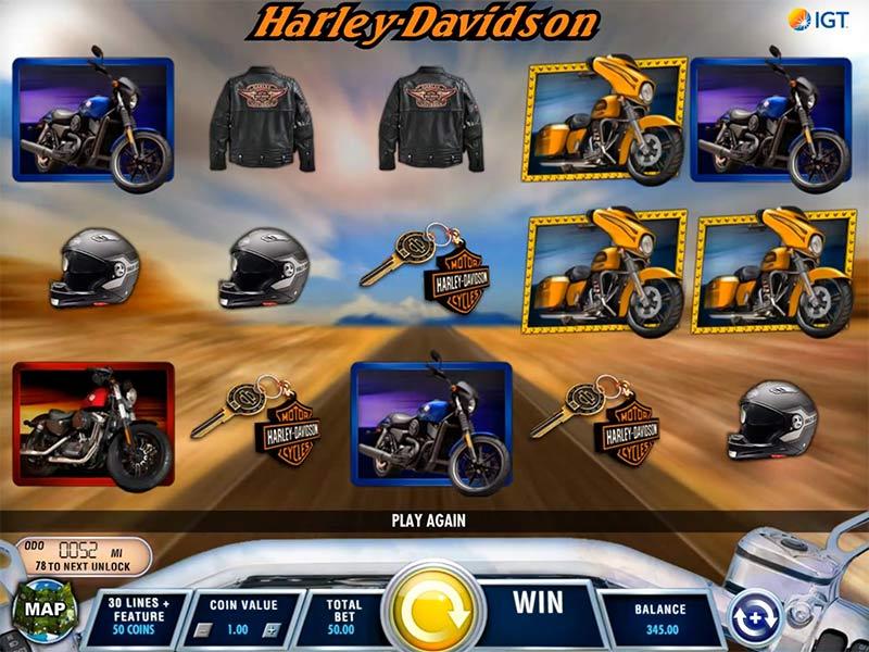 ปั่นเกมสล็อต Harley Davidson Freedom Tour