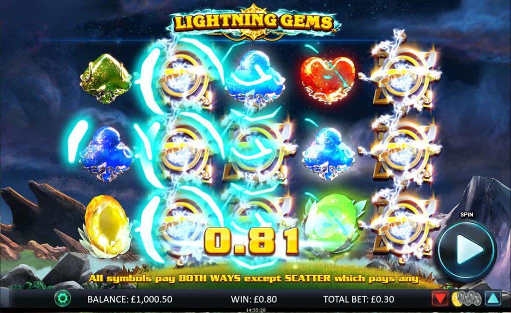 ทดลองเล่นฟรี เกมสล็อต Lightning Gems